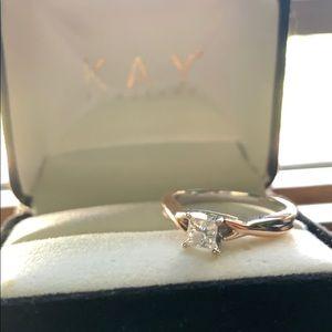 Rose Gold 14K2 Fancy Cut Ring